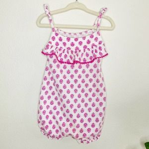 CARTER'S Toddler Pink Floral Summer Romper 18M